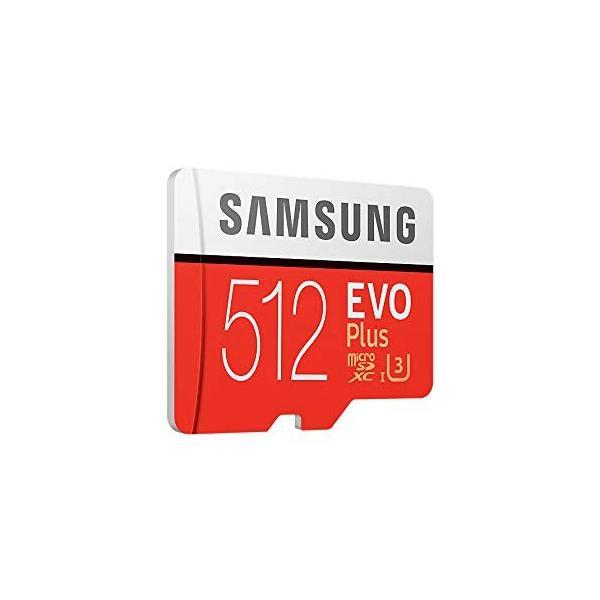 SAMSUNG microSDXC 512GB Class10 U3 4K対応 R:100MB/s W:90MB/s UHS-I EVO P lightlyrow