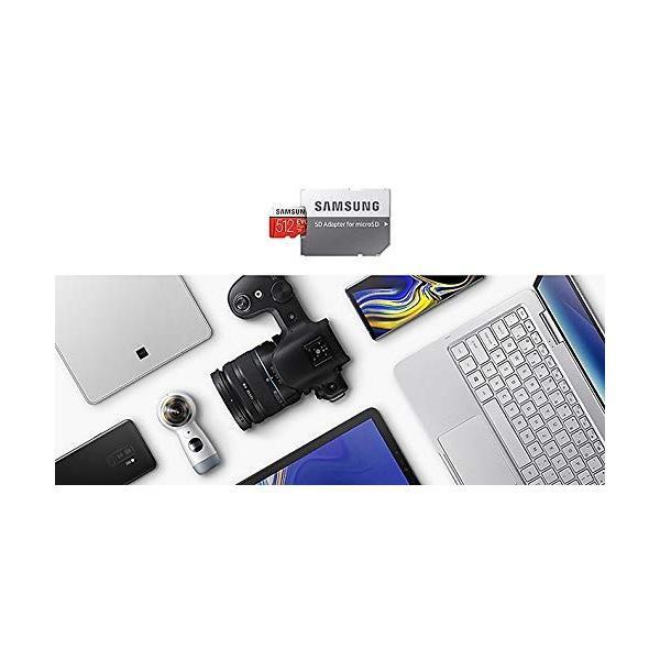 SAMSUNG microSDXC 512GB Class10 U3 4K対応 R:100MB/s W:90MB/s UHS-I EVO P lightlyrow 10