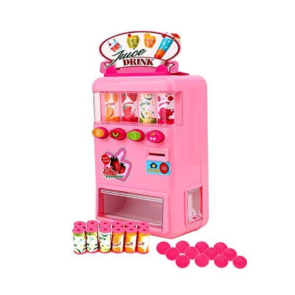 FlyCreat 自動販売機おもちゃ お店屋さん ジュースちょうだい 子供 こども おもちゃ 自販機 飲料機 飲料自動販売機 自動販売機 ふ|lightlyrow|08