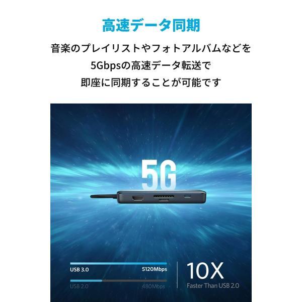 Anker PowerExpand+ 7-in-1 USB-C PD イーサネット ハブ4K対応HDMI出力ポート / 60W出力 Powe lightlyrow 10