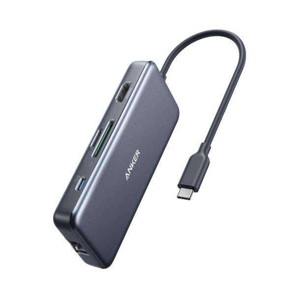 Anker PowerExpand+ 7-in-1 USB-C PD イーサネット ハブ4K対応HDMI出力ポート / 60W出力 Powe lightlyrow 09