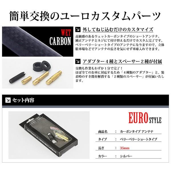 カーボン アンテナ ユーロタイプ ベリーベリーショート 35mm シルバー / 銀|lightning|03