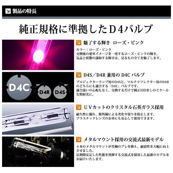 HID D4C 純正交換 バルブ D4S / D4R 対応 ピンク / PINK|lightning|02