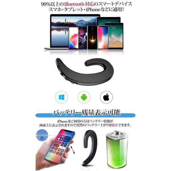 ワイヤレスイヤホン bluetooth 両耳通用 ポイント消化 マイク付き iPhone android 人気急上昇 耳かけ型 高音質 音楽|lightplanet|05