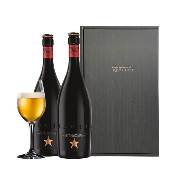 お歳暮 送料無料 包装済 イネディット ギフトセット 750ml 2本 BOX付き スペイン 輸入ビール 海外ビール 白ビール|likaman