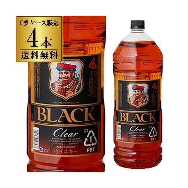ウイスキー ブラックニッカ クリア 37度 ペット 4L 4000m 送料無料 ケース リカウイス ウィスキー whisky 長S|likaman