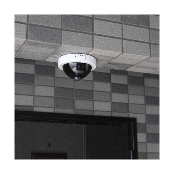 防犯カメラ風センサーライト LED 防犯カメラ ダミー ワイヤレス 屋外 人感 電池 送料無料