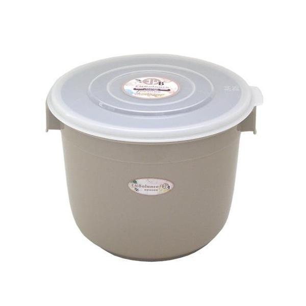 エンバランス 鮮度保持容器 丸型 6L (本体/ベージュ・フタ/半透明) 11559 送料無料