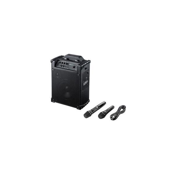 ワイヤレスマイク付き拡声器スピーカー MM-SPAMP10 送料無料