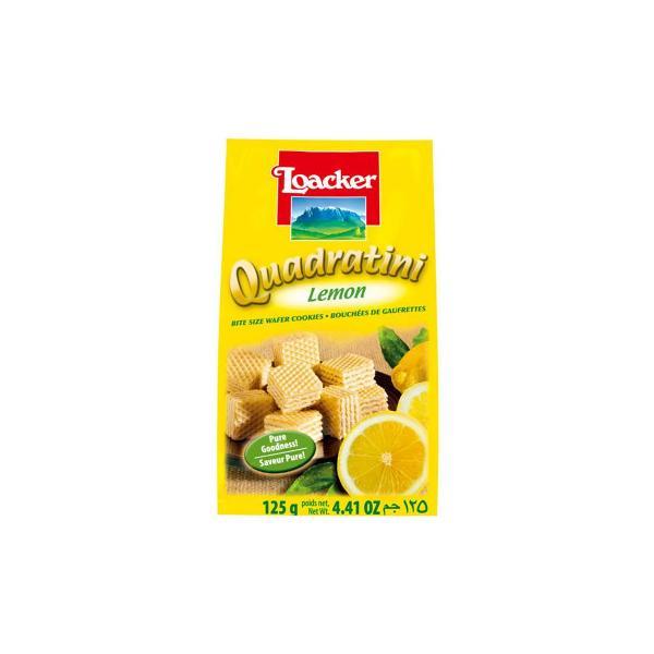 ロアカー クワドラティーニ ウエハース レモン 125g 12セット 送料無料  代引き不可