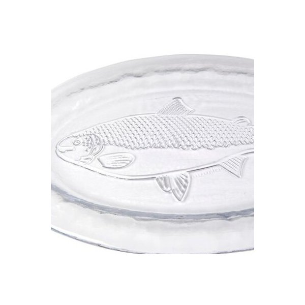 お皿  muurla ムールラ   フィッシュプレート33cm 北欧食器 ガラス食器 魚|lilicocoshop