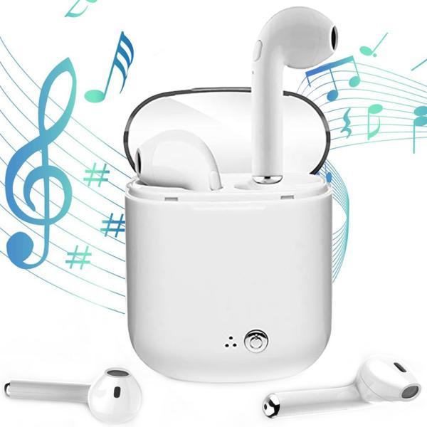 Bluetooth イヤホン 高音質 完全 ワイヤレス IPX5防水 マイク付き ミニ ハンズフリー通話 ノイズキャンセリング 充電式収納ケース iPhone & Android対応|lillian
