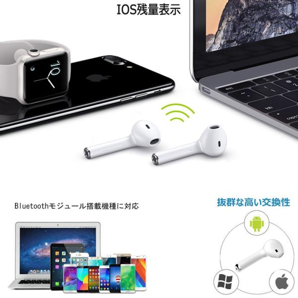 Bluetooth イヤホン 高音質 完全 ワイヤレス IPX5防水 マイク付き ミニ ハンズフリー通話 ノイズキャンセリング 充電式収納ケース iPhone & Android対応|lillian|06