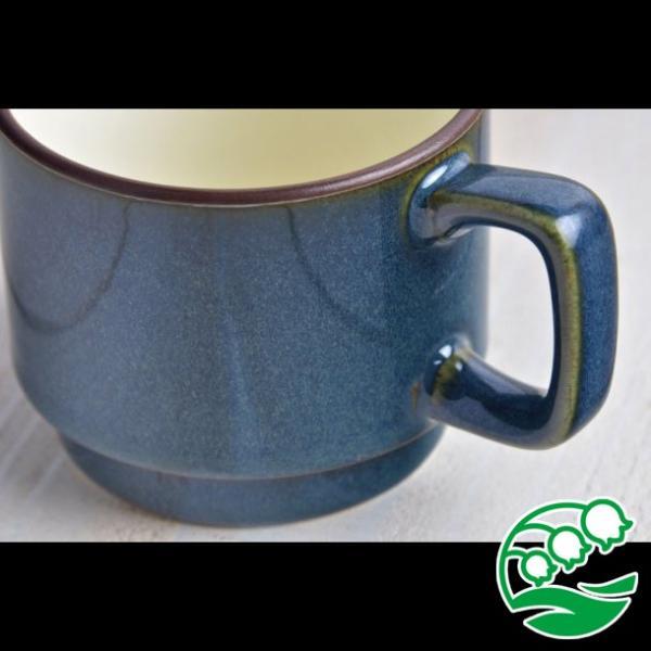 マグカップ おしゃれ プレゼント 美濃焼 北欧ブルー スタッキング マグカップ スズラン|lilly2016|02