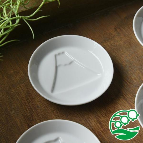 小皿 おしゃれ 豆皿 醤油皿 浮き出る 和食器 美濃焼 かげあそび  白磁 醤油皿 スズラン lilly2016 05