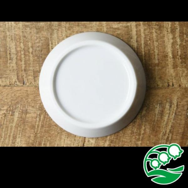 小皿 おしゃれ 豆皿 醤油皿 浮き出る 和食器 美濃焼 かげあそび  白磁 醤油皿 スズラン lilly2016 02
