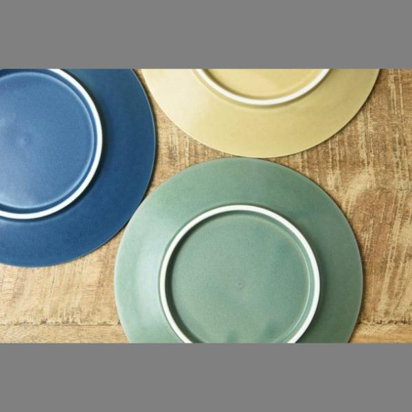 小皿 取り皿 おしゃれ 洋食器 美濃焼 プレス・ド・フラワー 16.5cmプレート マットグリーン スズラン|lilly2016|05