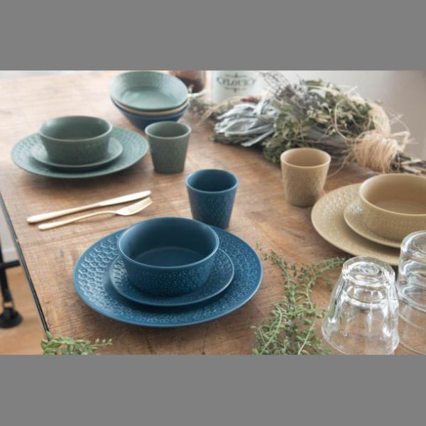 小皿 取り皿 おしゃれ 洋食器 美濃焼 プレス・ド・フラワー 16.5cmプレート マットグリーン スズラン|lilly2016|07