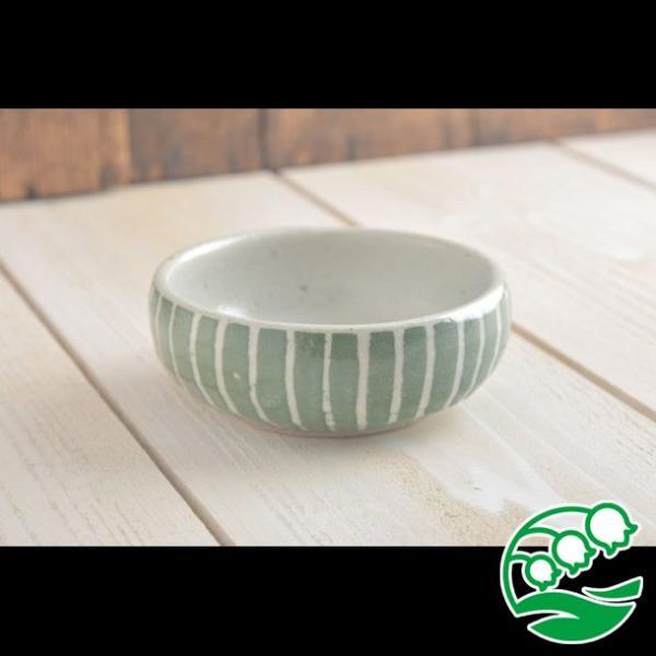 小鉢 煮物鉢 和風サラダボウル 美濃焼 手しごと ほっこりくくりボウル みどり 十草 スズラン|lilly2016|02