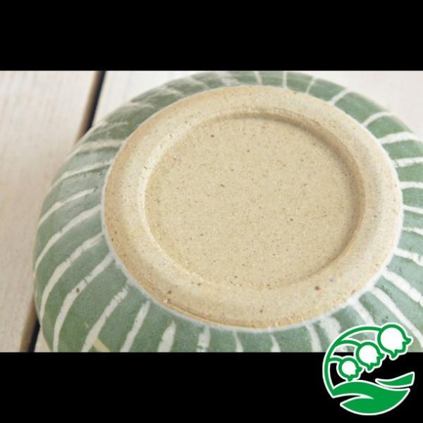 小鉢 煮物鉢 和風サラダボウル 美濃焼 手しごと ほっこりくくりボウル みどり 十草 スズラン|lilly2016|04