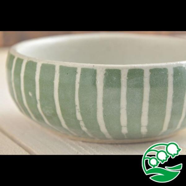 小鉢 煮物鉢 和風サラダボウル 美濃焼 手しごと ほっこりくくりボウル みどり 十草 スズラン|lilly2016|07