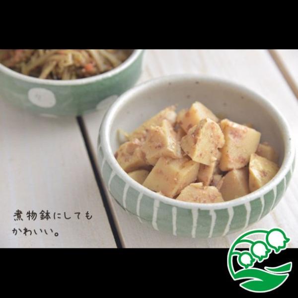 小鉢 煮物鉢 和風サラダボウル 美濃焼 手しごと ほっこりくくりボウル みどり 十草 スズラン|lilly2016|08
