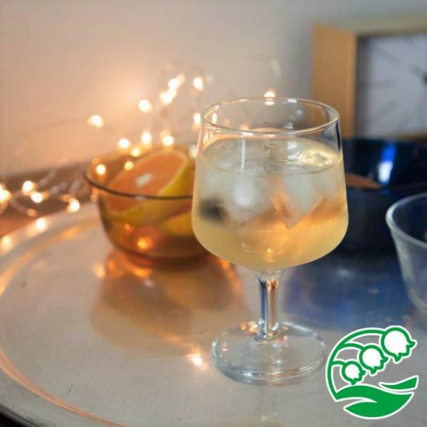 ワイングラス おしゃれ ステムの短いワイングラス 280ml クリア グラス カクテルグラス スズラン lilly2016