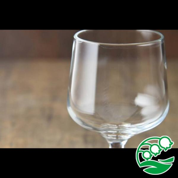 ワイングラス おしゃれ ステムの短いワイングラス 280ml クリア グラス カクテルグラス スズラン lilly2016 04