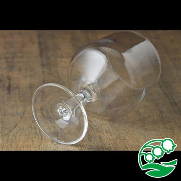 ワイングラス おしゃれ ステムの短いワイングラス 280ml クリア グラス カクテルグラス スズラン lilly2016 05