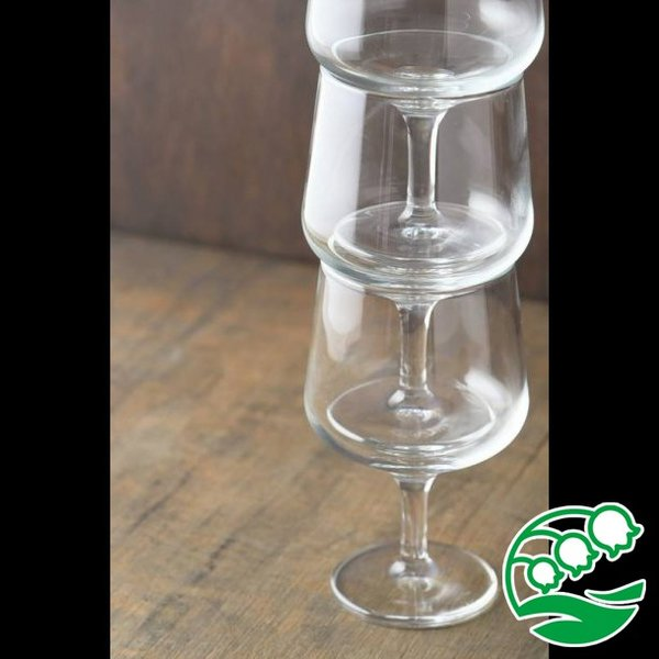 ワイングラス おしゃれ ステムの短いワイングラス 280ml クリア グラス カクテルグラス スズラン lilly2016 06