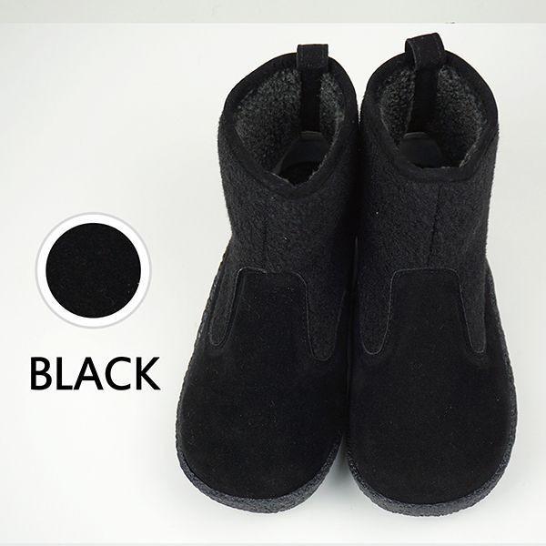 ショートブーツ レディース ペタンコ ボア ムートンブーツ おしゃれ 歩きやすい 疲れない 黒