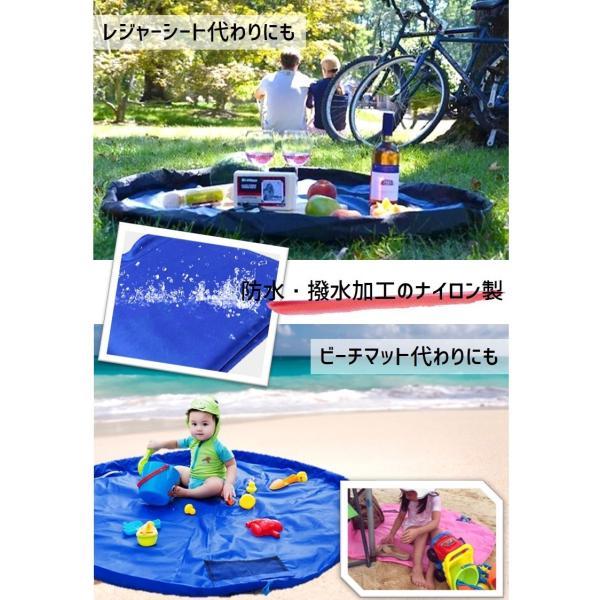 お片づけ おもちゃ プレイマット 収納袋 マット 150cm レゴ lego 収納 ( 緑 )|limedot|05