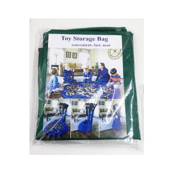 お片づけ おもちゃ プレイマット 収納袋 マット 150cm レゴ lego 収納 ( 緑 )|limedot|06