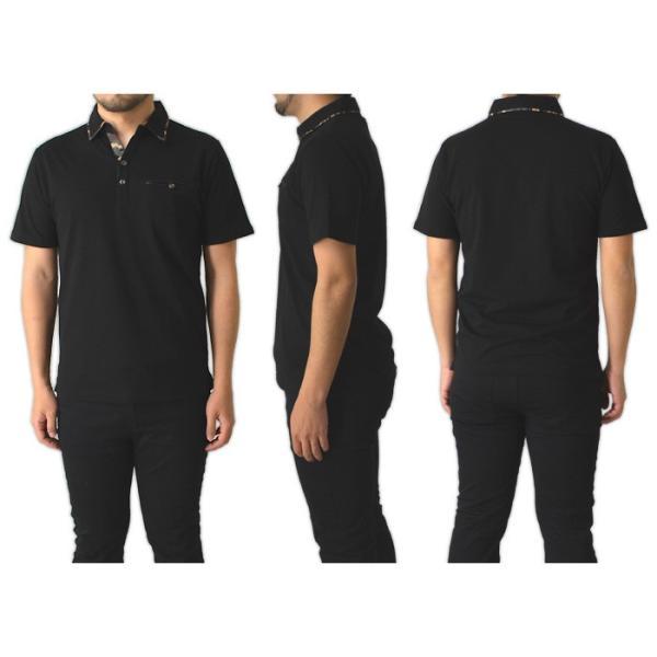 ポロシャツ 半袖 メンズ 迷彩 カモ柄 ポケット付 カノコポロ 通販M15|limited|05