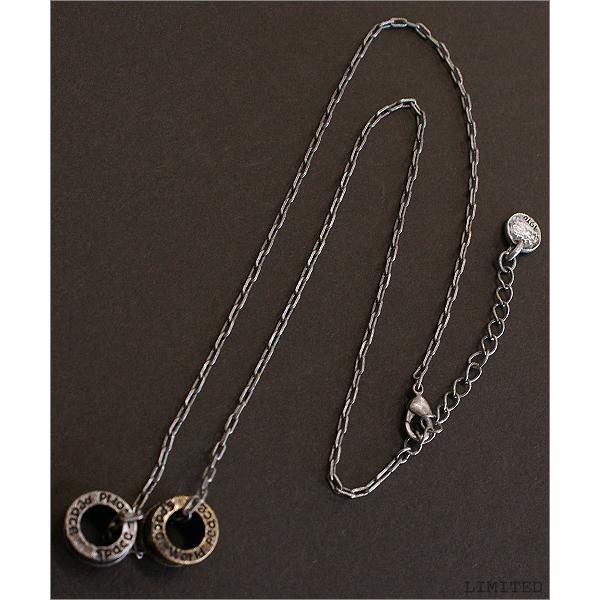 【グッズ】Brassダブルリングトップネックレス 通販M75|limited|02