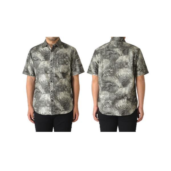 シャツ メンズ 半袖 リップル ボーダー 総柄 半袖シャツ レギュラーカラー リーフ アロハ 通販M15 RF3-0948 limited 11