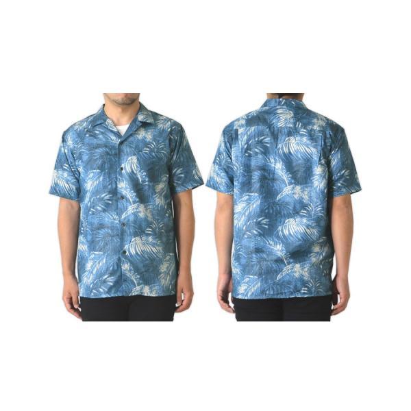 半袖 開襟シャツ メンズ シャツ リップル ボーダー オープンカラーシャツ アロハ リーフ リゾート 柄物 通販M15 RK2-0947 limited 11