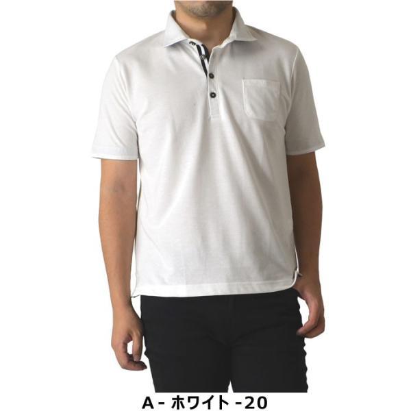 ポロシャツ メンズ 半袖 クールビズ デュエボットーニ カノコ ボーダー切替 通販M15|limited|02