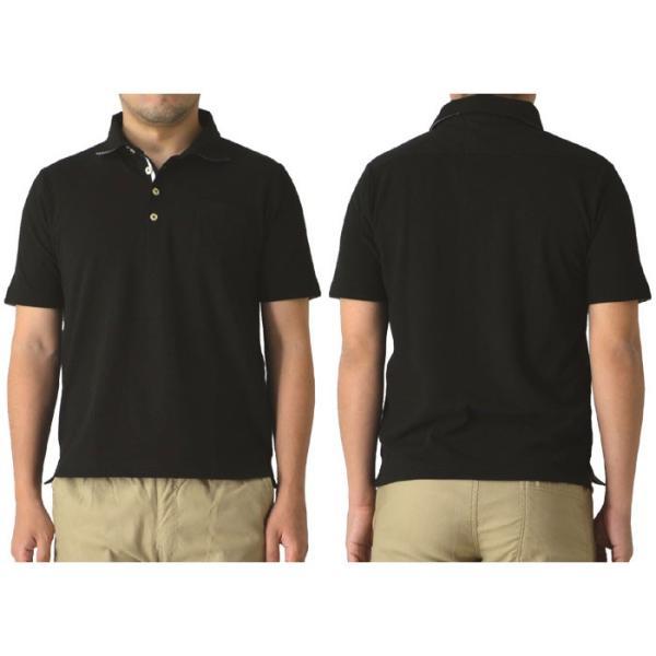ポロシャツ メンズ 半袖 クールビズ デュエボットーニ カノコ ボーダー切替 通販M15|limited|11