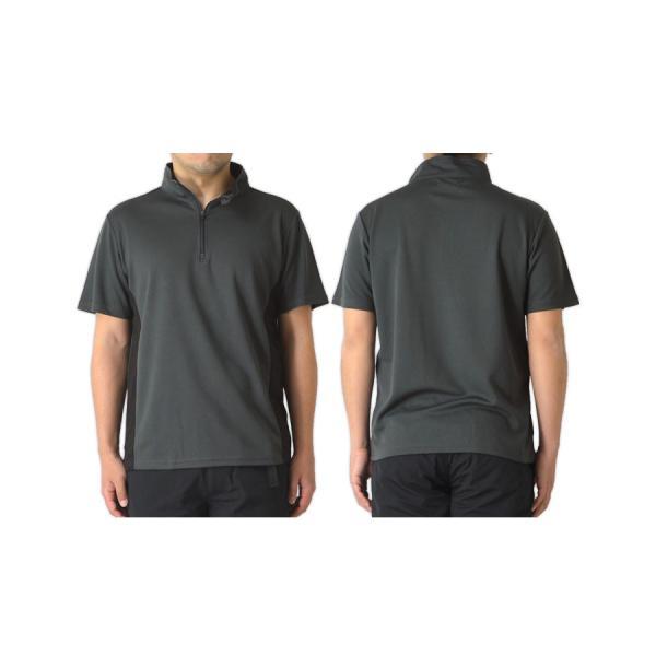 ポロシャツ メンズ ゴルフウェア 吸汗 速乾 ドライ ストレッチ 切替 ハーフジップ カットソー スポーツ 通販M15|limited|11
