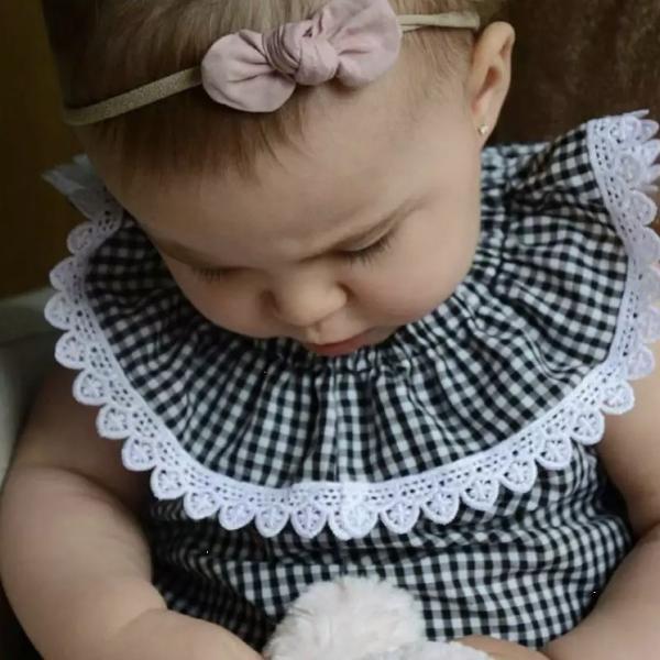 c5c0ded8acce0 ... ギンガムチェック ロンパース 女の子 赤ちゃん 新生児 ベビー服 洋服 トップス ノースリーブ 夏 夏服 半袖 出産祝い プレゼント