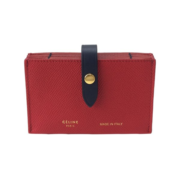 1d31ce548d6a セリーヌ カードケース accordion card case coquelicot 104323AI525CO CELINE|linate ...