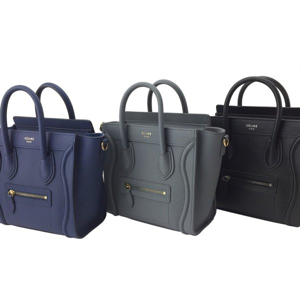 efc0bad9f456 ... セリーヌ トートバッグ LUGGAGE NANO marine 168243AQL07MJ CELINE|linate|06