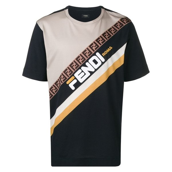 premium selection e17b5 64d14 フェンディ Tシャツ フェンディマニア フィラロゴデザイン メンズシャツ ダブルF FY0936 A65G F15IV FENDI