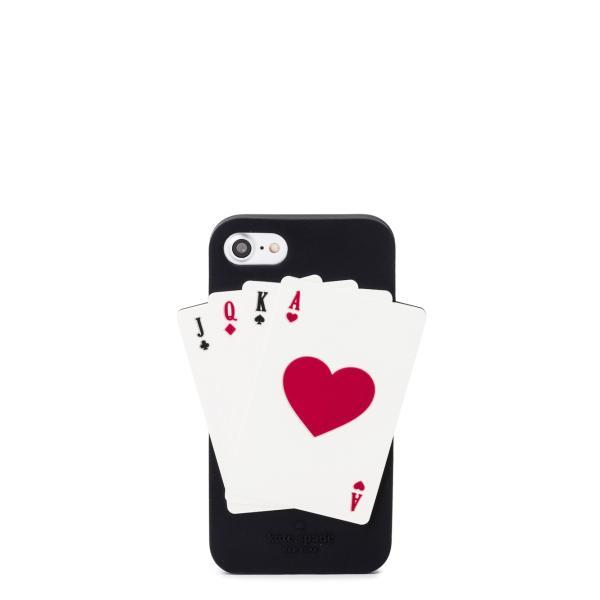 ケイトスペード iphone7ケース deck of cards 7 black multi kate
