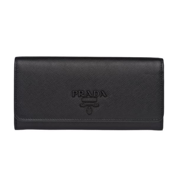 82d65bda2ec3 プラダ モノクローム ダブルスナップ フラップ長財布 サフィアーノ カードケース付 ロングウォレット 1MH132 2EBW F0002 ...