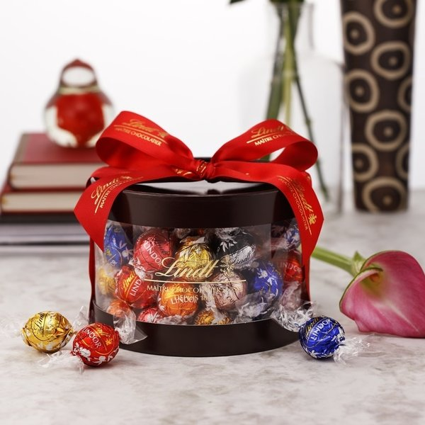 母の日2021公式リンツLindtチョコレートスイーツお菓子リンドールギフトボックス8種アソート50個入り誕生日お祝いギフトプレ