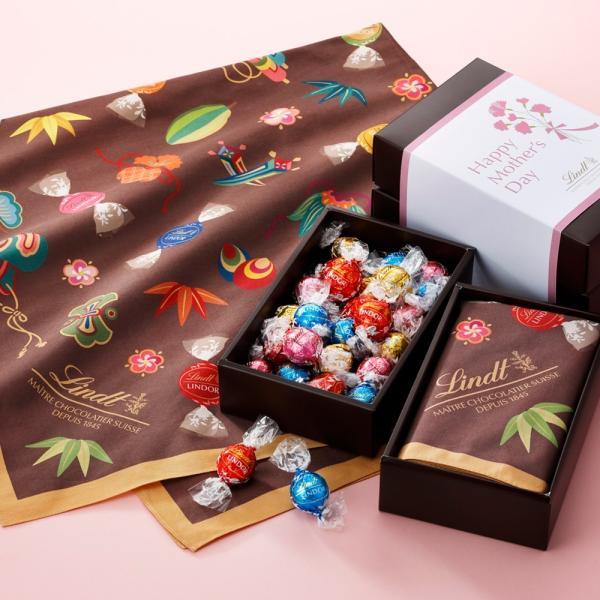 母の日2021公式リンツLindtチョコレート母の日 リンドールマイセレクトギフトオリジナル風呂敷付きスイーツ