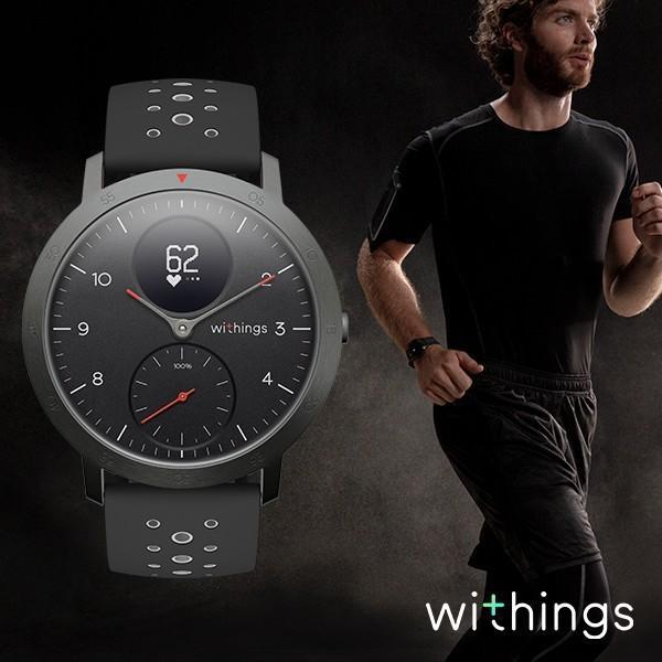 スマートウォッチ Withings ウィジングズ Steel HR Sport Black 40mm 心拍計測 ウォーキング ランニング|line-mobile