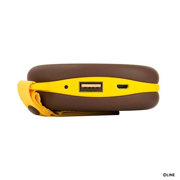 マカロンモバイルバッテリー(5200mAh) LINE FRIENDS ブラウン|line-mobile|04
